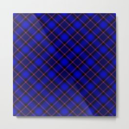 Scottish Fabric Blue Metal Print
