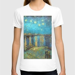 Starry Night Over the Rhone River by Vincent van Gogh T-shirt