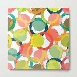 COLORFUL CIRCLES PATTERN  Metal Print