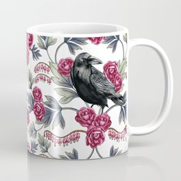 Crows, Bleeding Hearts & Roses Floral/Botanical Pattern Coffee Mug