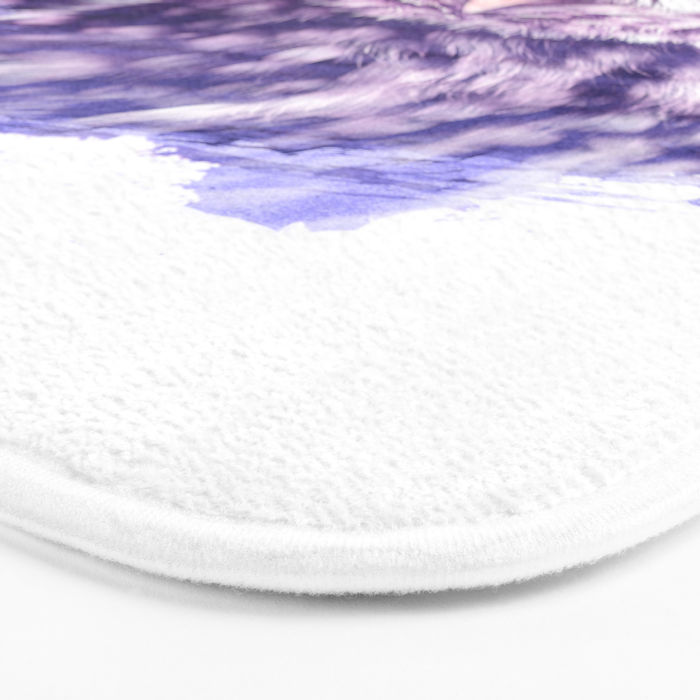 OWL SUPERIMPOSED WATERCOLOR Bath Mat