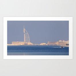 Burj AL Arab Panorama Art Print