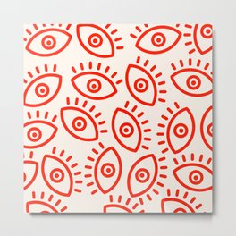 Eye Pattern Metal Print
