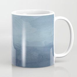 White, Mauve, Navy Soft Blue Print Modern Wall Art, Printable Abstract Painting, Ocean Clouds Misty Coffee Mug