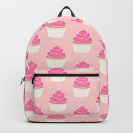 Pink Cupcakes with Frosting Backpack