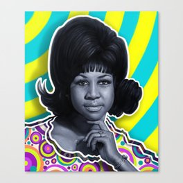 Aretha - Queen of Soul Canvas Print