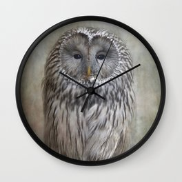Ural Owl ( Grey owl ) Wall Clock