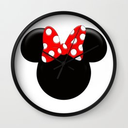 Minnie Mouse Logo PNG Wall Clock