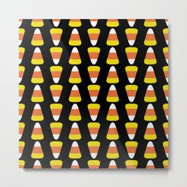 Candy Corn Stripes Metal Print