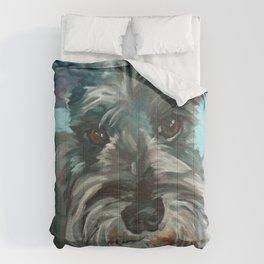 Schnauzer Dog Portrait Comforters