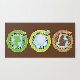 1st World: 2nd World: 3rd World Canvas Print