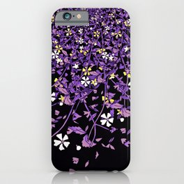 Nonbinary Pride Scattered Falling Flowers and Leaves iPhone Case