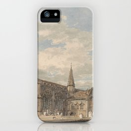 "J.M.W. Turner ""North East View of Grantham Church, Lincolnshire"" iPhone Case"