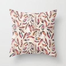 Feather Love Throw Pillow