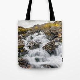 Cwm Idwal River Snowdonia Tote Bag