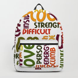 Positively encouraging words Backpack