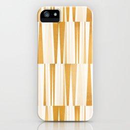 BEACHING PATTERN GOLD iPhone Case