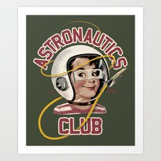 Astro Club (green) Art Print