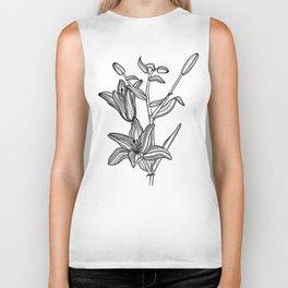 Lily Botanical Illustration Biker Tank