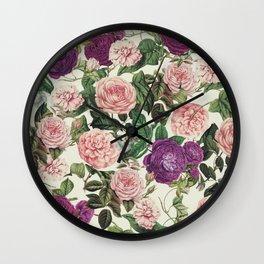 Light Floral Pattern Wall Clock