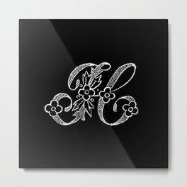 H Monogram Metal Print