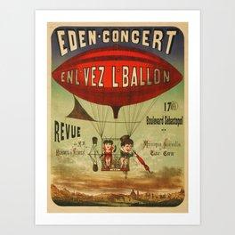 Concert en Ballon Art Print