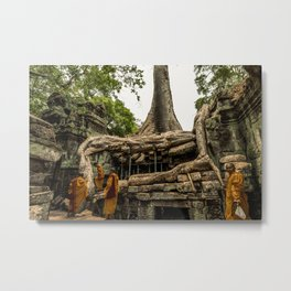 Monks in the Temple Metal Print