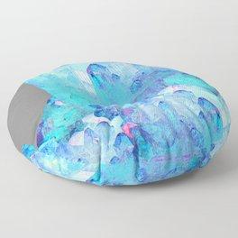 AURAL BLUE CRYSTALS ART Floor Pillow