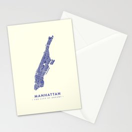 Manhattan Map NYC Stationery Cards