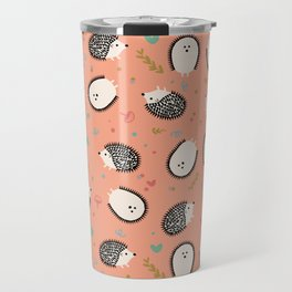 Hedgegogs in the Forest Travel Mug