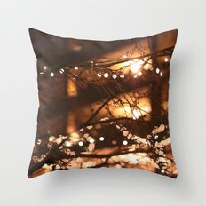 Christmas bokeh Throw Pillow