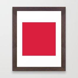 Crimson Red Solid Color Framed Art Print