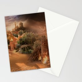 Desert paradise on the edge of Hell - Sandstorm Stationery Cards
