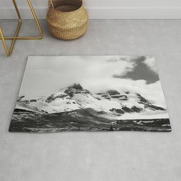 Smokey Mountains Landscape Black & White Rug