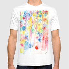 IN BLOOM  White Mens Fitted Tee MEDIUM