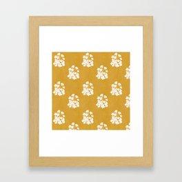 Wild Geraniums in Yellow Framed Art Print