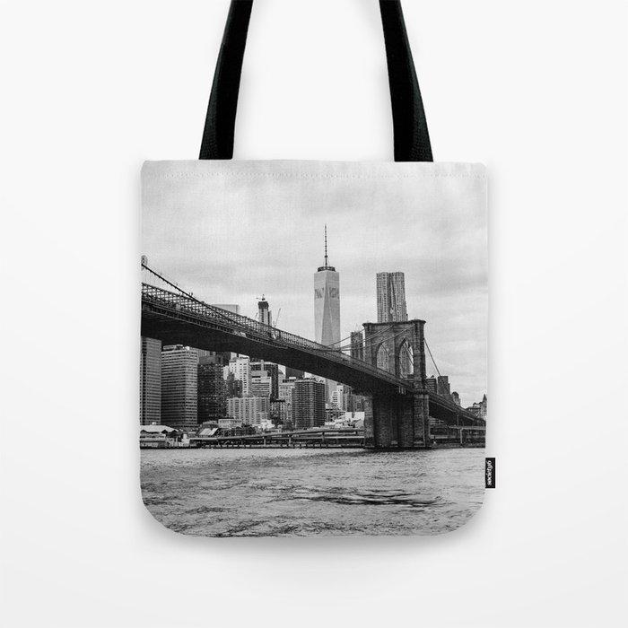 Monochrome Manhattan Tote Bag
