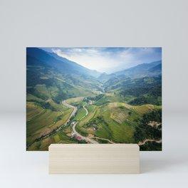 Vietnam Agricultural Landscape Mini Art Print
