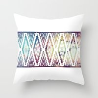 diamonds Throw Pillows featuring Diamonds by Last Call