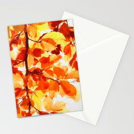Autumnal leaves watercolor painting #3 Stationery Cards