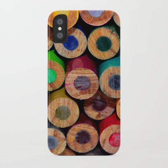 Colored Pencils Part II iPhone Case