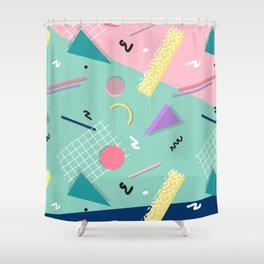 Dreaming 80s Pattern #society6 #decor #buyart Shower Curtain