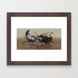 Robot Battle Framed Art Print