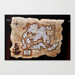 Map to the Afterlife Canvas Print