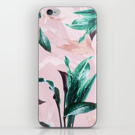 Tropical Floral on Pink. Odessa Calla Lily iPhone Skin