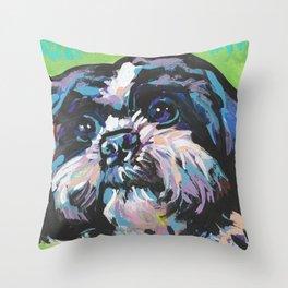 Fun Shih Tzu Dog bright colorful Pop Art Throw Pillow