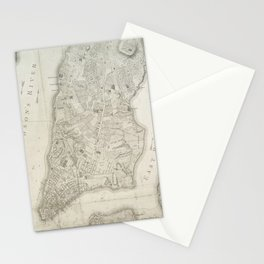 Vintage Map of New York City (1776) Stationery Cards
