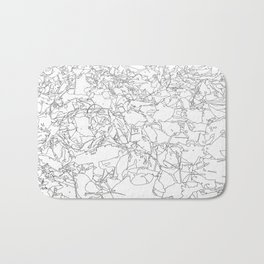 fallen leaves, drawing Bath Mat