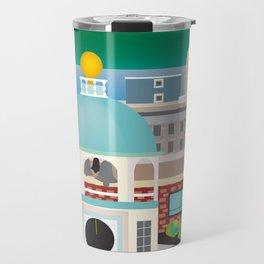 Halifax, Nova Scotia, Canada - Skyline Illustration by Loose Petals Travel Mug
