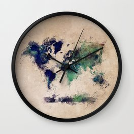 World Map splash raf Wall Clock